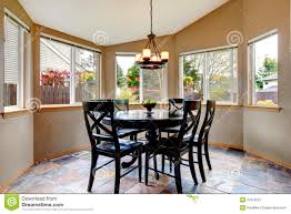 beighe round corner dining room stock image image 37919501