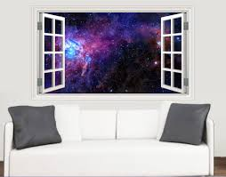 outer space galaxy nebula window scene wall stickers living room outer space galaxy nebula window scene wall stickers living room kitchen bedroom decal mural transfers