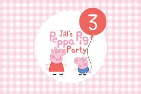 printable custom birthday party invitation peppa pig u0026 george