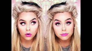 halloween barbie makeup tutorial nicole matthews youtube