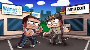 minecraft sneaking into amazon headquarters walmart vs amazon