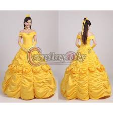 Belle Halloween Costume Women Custom Women U0027s Deluxe Princess Belle Dress Costume