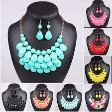 earrings statement necklace images Multi layered bubble bib necklace earrings royal angels jpg