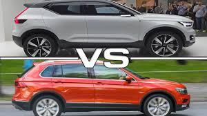 2016 volvo xc40 concept vs 2017 volkswagen tiguan youtube