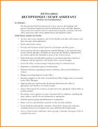 Receptionist Resume Qualifications Medical Office Receptionist Resume Objective Sample Medical Office