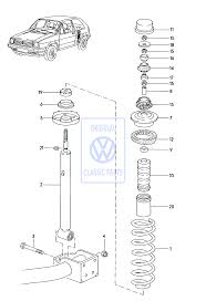 rear shock absorber for golf mk2 and corrado