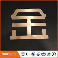 custom diy rose gold metal letter signs brushed stainless steel
