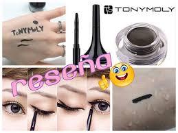 toni moli reseña demo tony moly back gel eyeliner brush delineador
