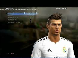 pes 2013 hairstyle cr7 news c ronaldo 7 hairstyle on pes 2015