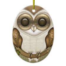 owl tree decorations ornaments zazzle co uk