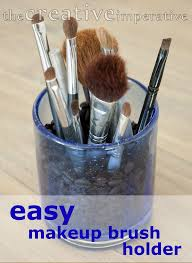 creative imperative easy access makeup brushes in bathroom