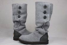 womens knit boots size 11 velcro solid knee high boots for ebay