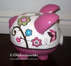 Monogrammed Piggy Bank Large Girly Personalized Chevron Piggy Bank From Neat Stuff Gifts