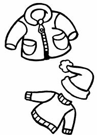 free coloring pages winter clothes winter coloring pages of
