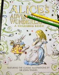 alice wonderland coloring book u2013 whimsical lady