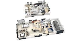 plan maison 4 chambres etage 3d maison a etage avec plan maison 3d 4 chambres idees et po209 plan