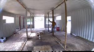 Home Inside by Container Home Interior Structure Modification Youtube
