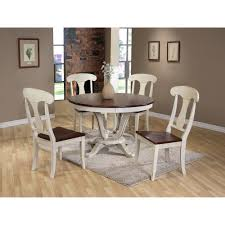 baxton studio napoleon chic country cottage antique oak wood and baxton studio napoleon chic country cottage antique oak wood and distressed white 5 piece dining