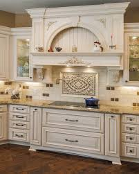unusual backsplash behind stove feat white painted cabinets plus