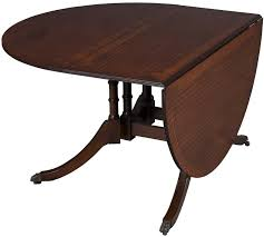 Oval Drop Leaf Dining Table Antique Mahogany Drop Leaf Table