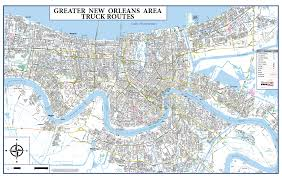 New Orleans French Quarter Map by New Orleans Truck Routes U2013 Stinson Map