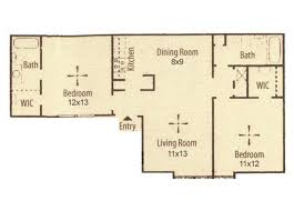 two bed two bath floor plans marland place apartments in temple tx floor plans
