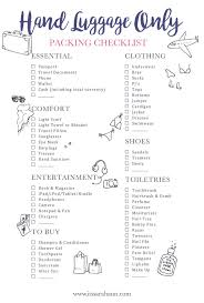 travel checklist images Travel checklist your holiday carry on guide to packing anything jpg