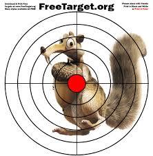 squirrel red dot bulls eye target download free freetarget