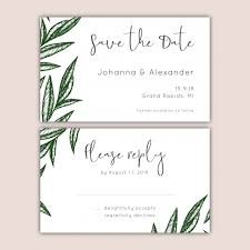 save the date and rsvp cards set vector free