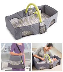 foldable travel bassinet infant changing table portable baby crib