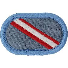 Army Uniform Flag Patch U S Army 143rd Infantry Regiment 1st Battalion Oval Patch Usamm