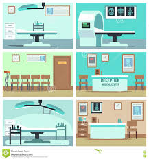 empty hospital doctor office surgery room clinic vector