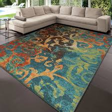 Teal Living Room Rug by Area Rugs Awesome Orange And Teal Area Rug Glamorous Orange And