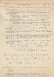 Cler Revoltes By Federation Des Students Documents From May 1968