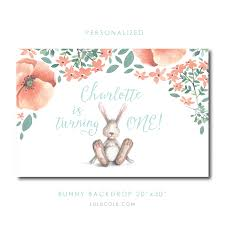 personalized photo backdrop personalized bunny birthday backdrop s party ideas