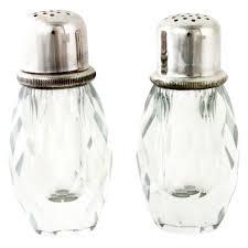 1960s crystal salt shaker u0026 pepper grinder crystal salt