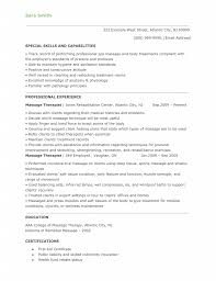 Sample Resume For Massage Therapist by Massage Therapist Resume Objective Resume For Your Job Application