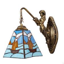 Nautical Wall Sconce Indoor Tiffany Wall Sconces And Stained Glass For Bathroom