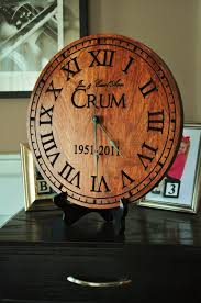 personalized picture clocks personalized clock carved engraved wood 13 inch diameter by mrc