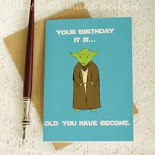 wars congratulations card wars yoda inspired card birthday blank greeting card