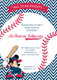 baby mickey invitations mickey mouse baseball baby shower invitation 8 99 baby shower
