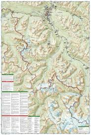 Banff National Park Map Jasper South Jasper National Park National Geographic Trails