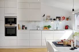 White Kitchen Furniture Modern White Kitchen Furniture In Charming And Minimalist Loft