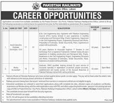 Office Engineer Job Description Pakistan Railways Headquarters Office Lahore Jobs 2016 Vacancies