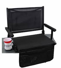 Stadium Bench World Outdoor Products Zero Gravity Extra Wide Pearl Black