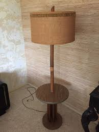 Rattan Table Lamp Mid Century Modern Rattan Floor Lamp With Table