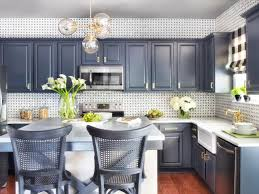 Black Cabinets Kitchen White Tile Pattern Ceramic Countertops Gray Kitchen Cabinets