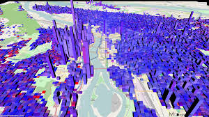 Portland Or Traffic Map by 3d Map Of Portland Proportional Population From Ross Island Bridge