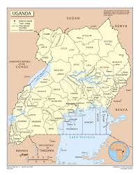Map Of Uganda In Africa by Large Detailed Political And Administrative Map Of Uganda With