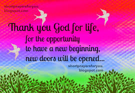 thank you god for and new beginning prayer